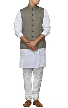 Classic grey nehru jacket