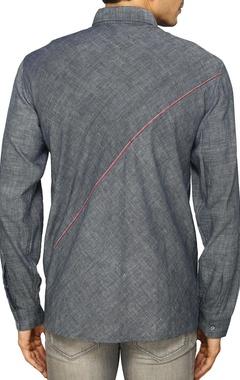 Indigo cotton shirt