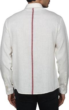 Ecru cotton shirt