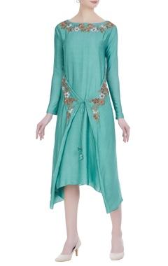 Joy Mitra Wrap layered tunic with asymmetric hemline