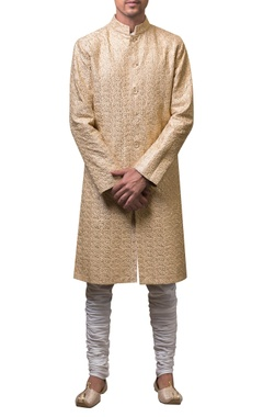 Siddhartha Tytler - Men Threadwork embroidered sherwani set