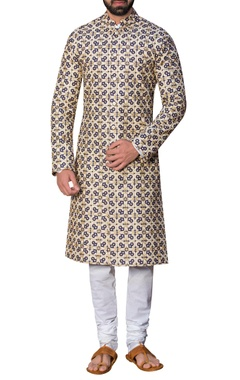 Siddhartha Tytler - Men Embroidered sherwani with malmal kurta & churidar