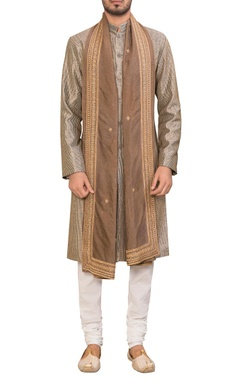 Siddhartha Tytler - Men  Cotton embroidered kurta with churidar & dupatta