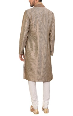 Cotton embroidered kurta with churidar & dupatta
