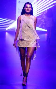 Organza applique dress