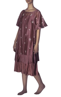 Myoho Floral embroidered dress with inner