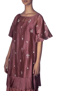 Floral embroidered dress with inner