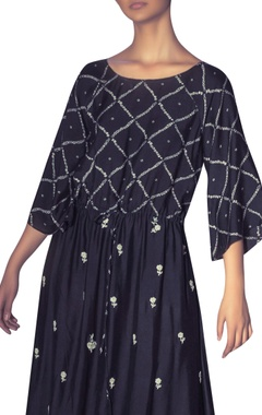 Patchwork embroidered long tunic