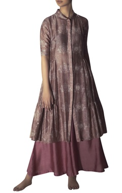 Myoho Chanderi tiered style long tunic