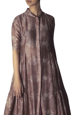 Chanderi tiered style long tunic