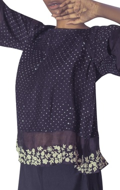 Double layered hand embroidered blouse