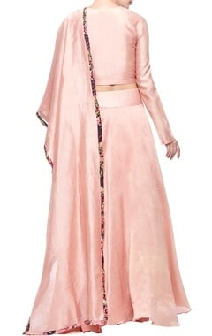 blush pink pearl embroidered lehenga set