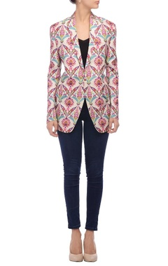 white floral printed jacket