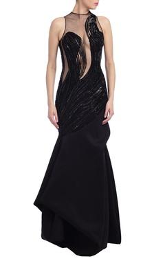 Black embellished gown