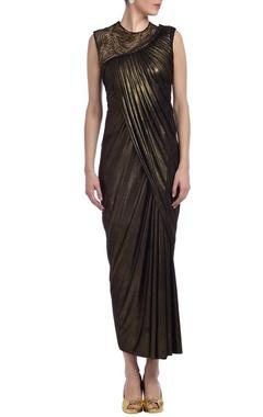 copper shimmer embellished dress