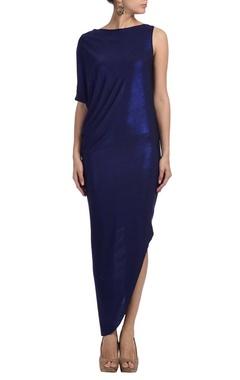 Electric blue shimmer dress