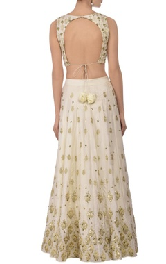Ivory & gold embellished lehenga set