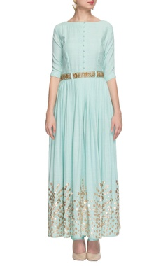 Nidhi Tholia light blue gota patti anarkali with churidar