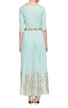 light blue gota patti anarkali with churidar