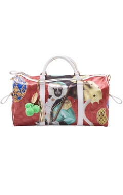 Casa Pop Red & white digital printed carry all bag