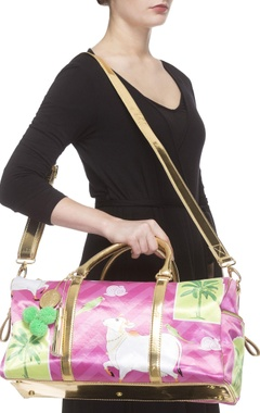 Pink digital printed handbag