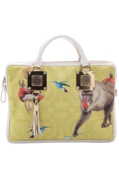 Casa Pop Yellow digital printed laptop bag