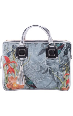 Casa Pop Ice blue digital printed laptop bag
