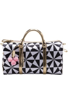 Casa Pop Black & white digital printed handbag