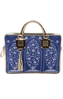 Casa Pop Royal blue digital printed laptop bag