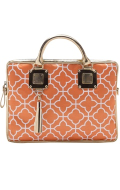 Casa Pop Orange digital printed laptop bag