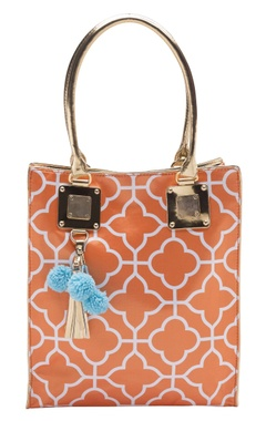 Casa Pop Orange digital printed tote bag