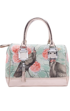 Casa Pop Sea green & coral digital printed handbag