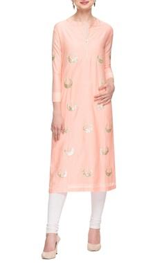 Rose pink & gold sequin embellished tunic