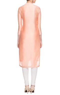 Blush pink pintuck tunic