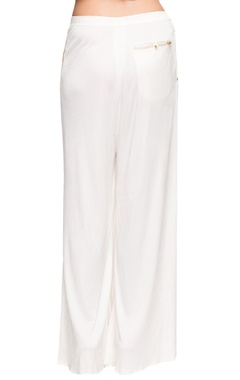 white comfort fit palazzos