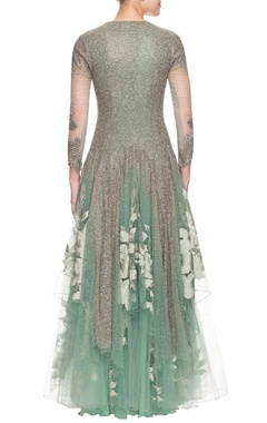 green gown with embellishments