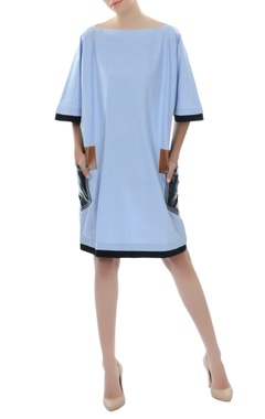 Light blue dress with patch pockets