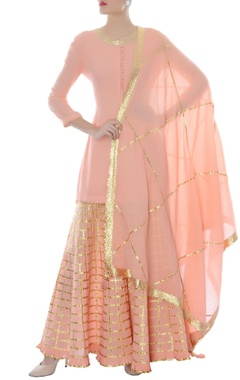 baby pink & gold kurta set