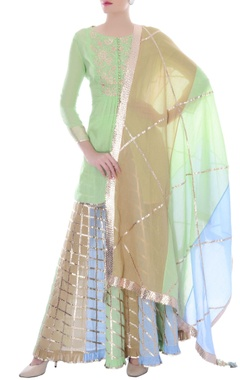 multi-colored pastel kurta set