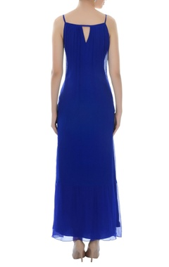 Royal blue maxi dress with tassels
