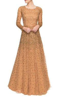 Brown sequined gown