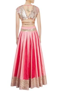 Rose pink embellished lehenga set