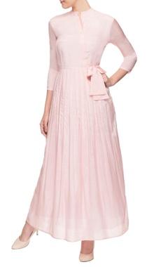 Pallavi Kandoi Light pink tie-up dress