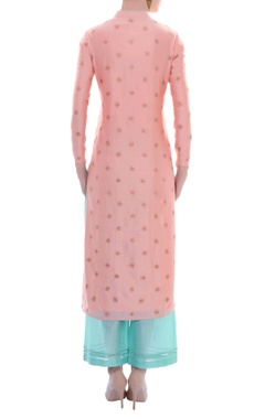 Pink & blue embellished kurta set