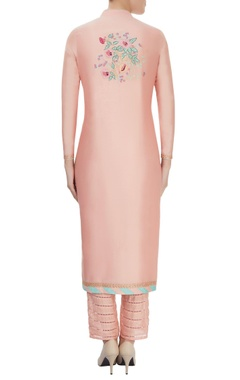 blush pink embroidered kurta set