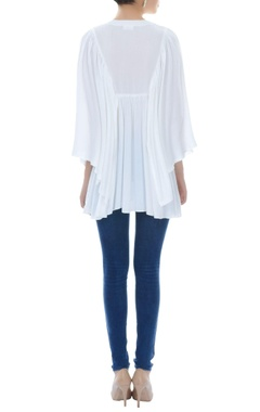 White kaftan tunic