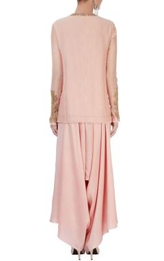 blush pink kurta set with embroidery