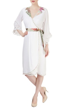 Arpan Vohra White dress with a tie up