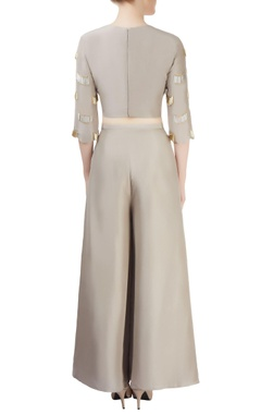 Grey divider skirt with top