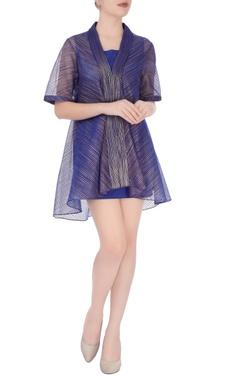 Blue mini dress with jacket